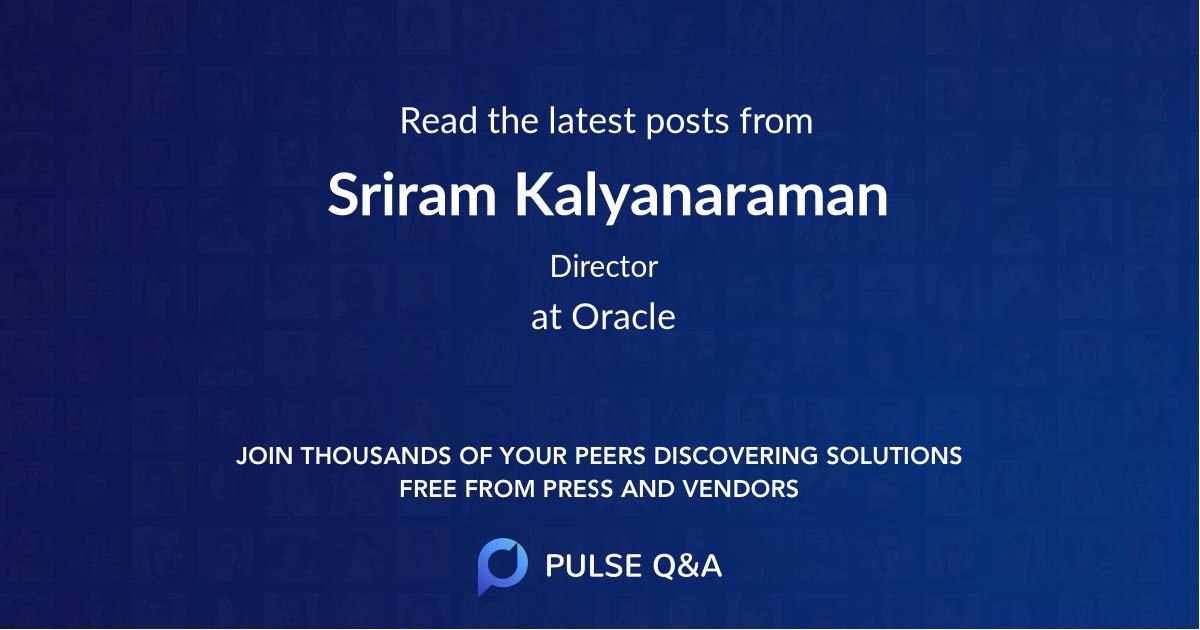 Sriram Kalyanaraman