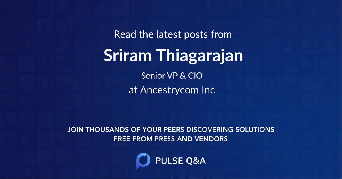 Sriram Thiagarajan