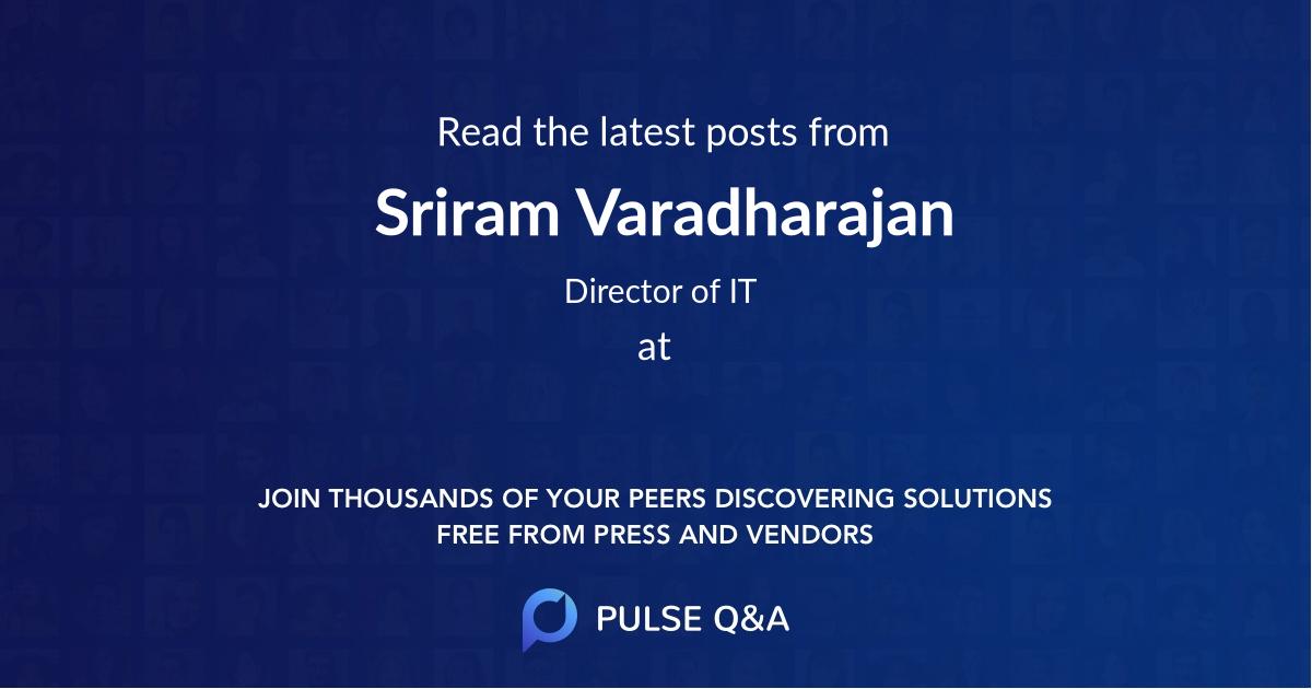 Sriram Varadharajan