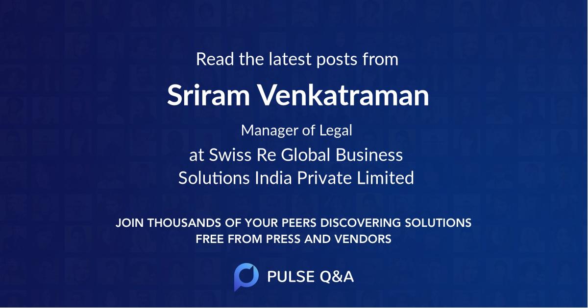 Sriram Venkatraman