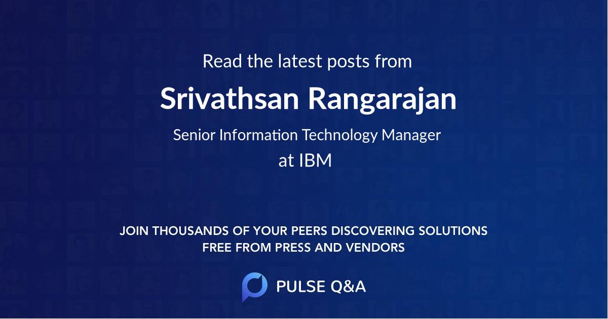 Srivathsan Rangarajan