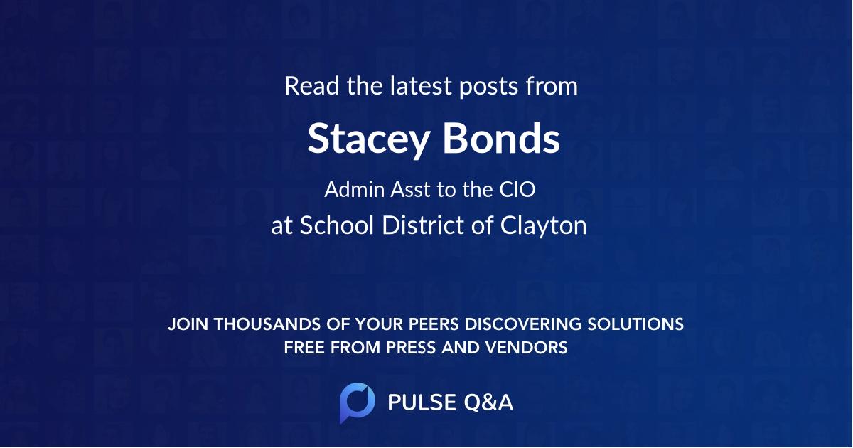 Stacey Bonds