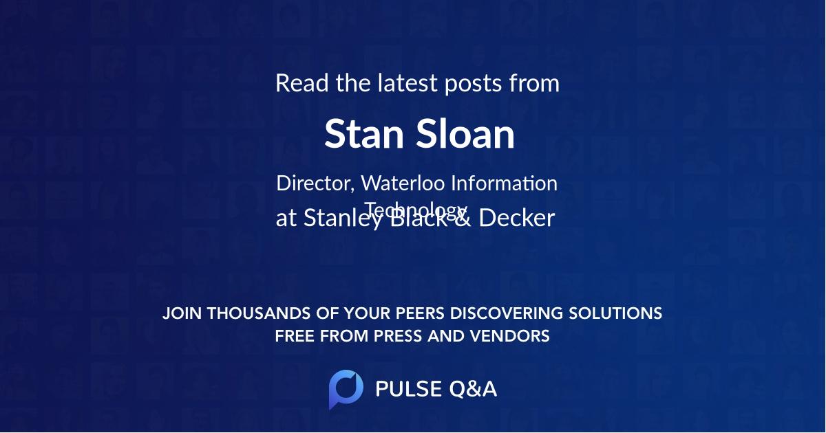 Stan Sloan