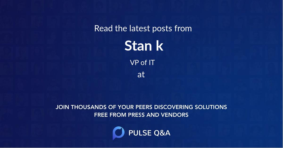 Stan k