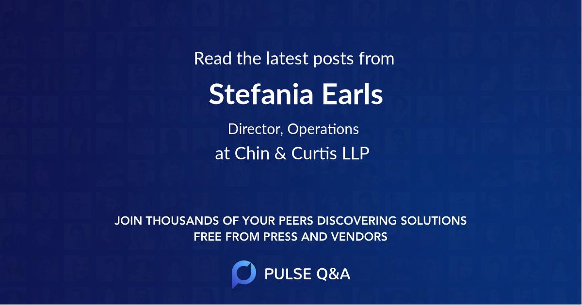 Stefania Earls