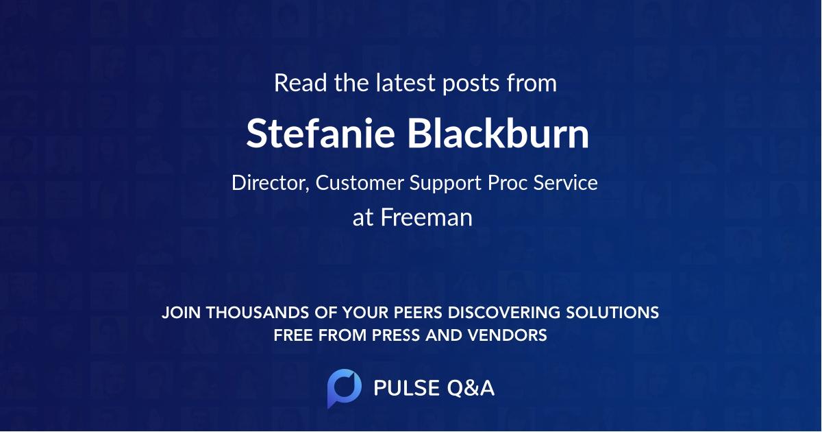 Stefanie Blackburn