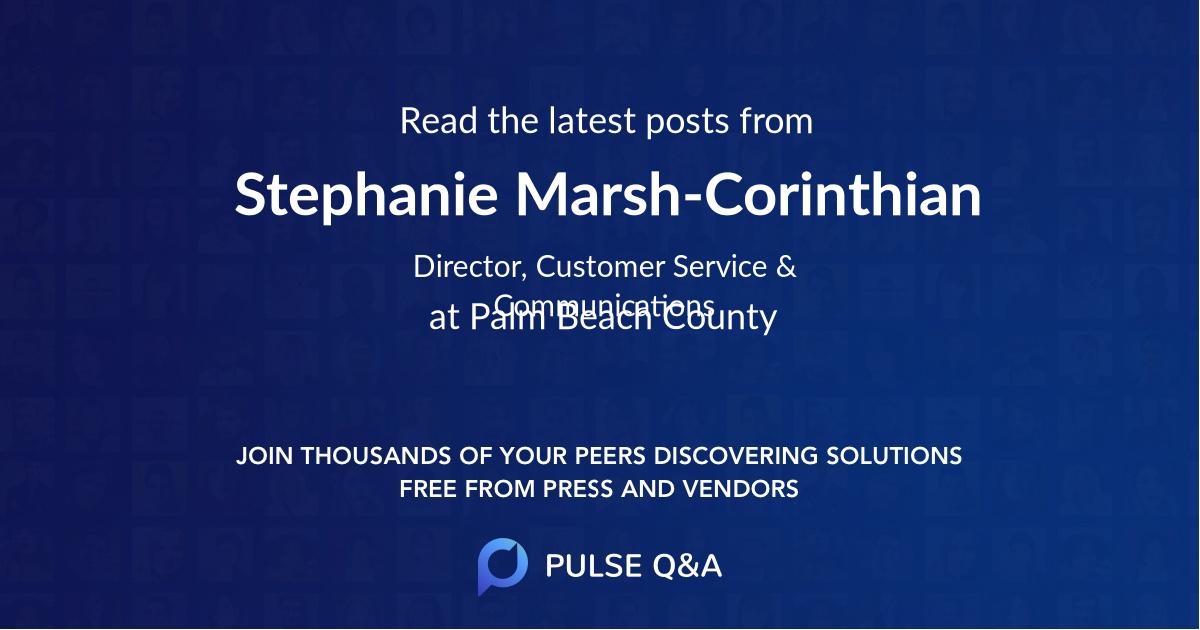 Stephanie Marsh-Corinthian