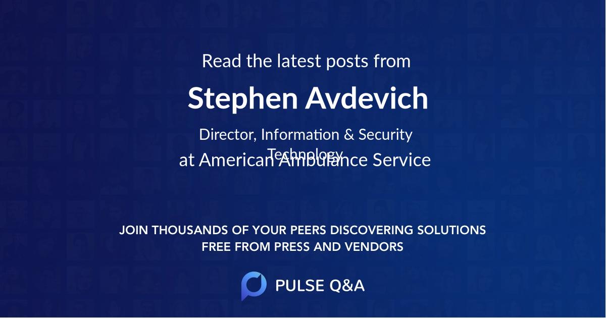 Stephen Avdevich
