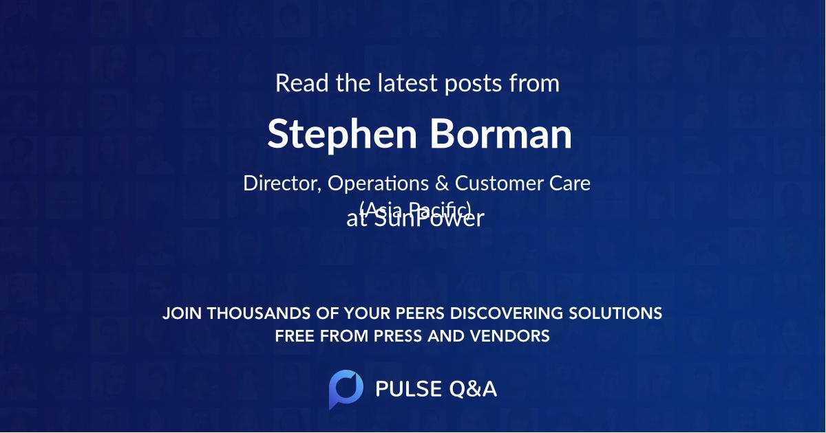 Stephen Borman