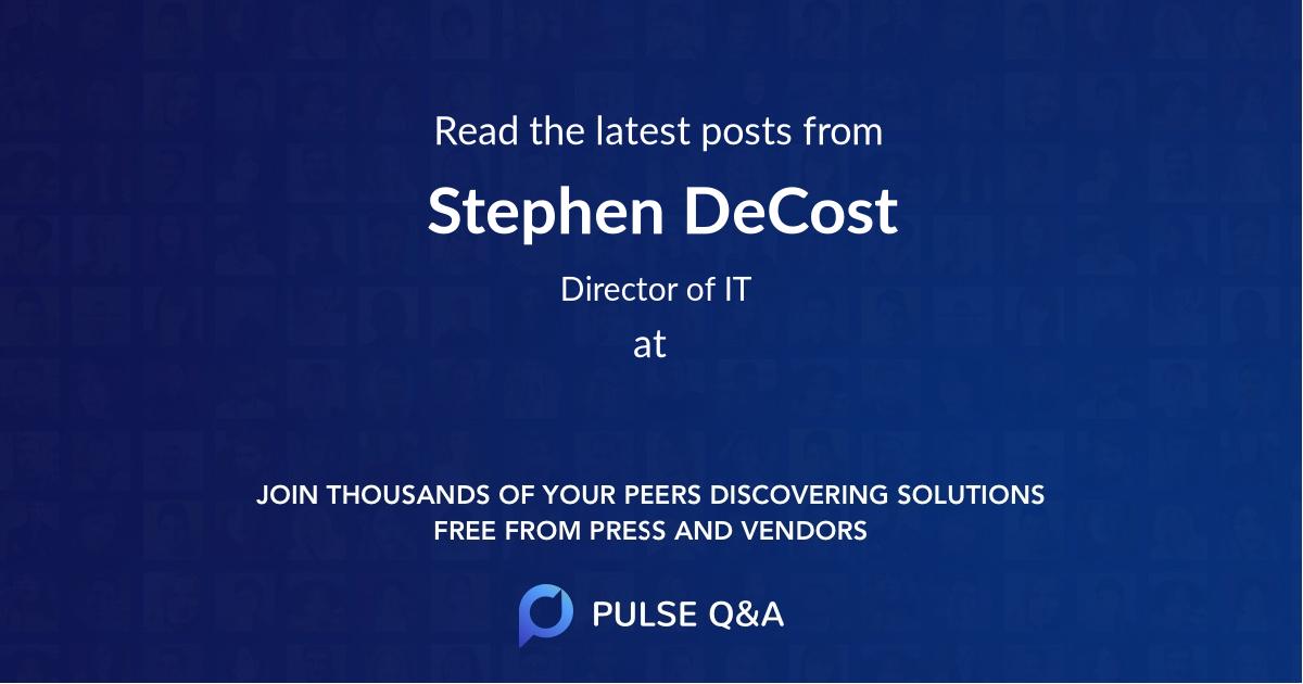 Stephen DeCost