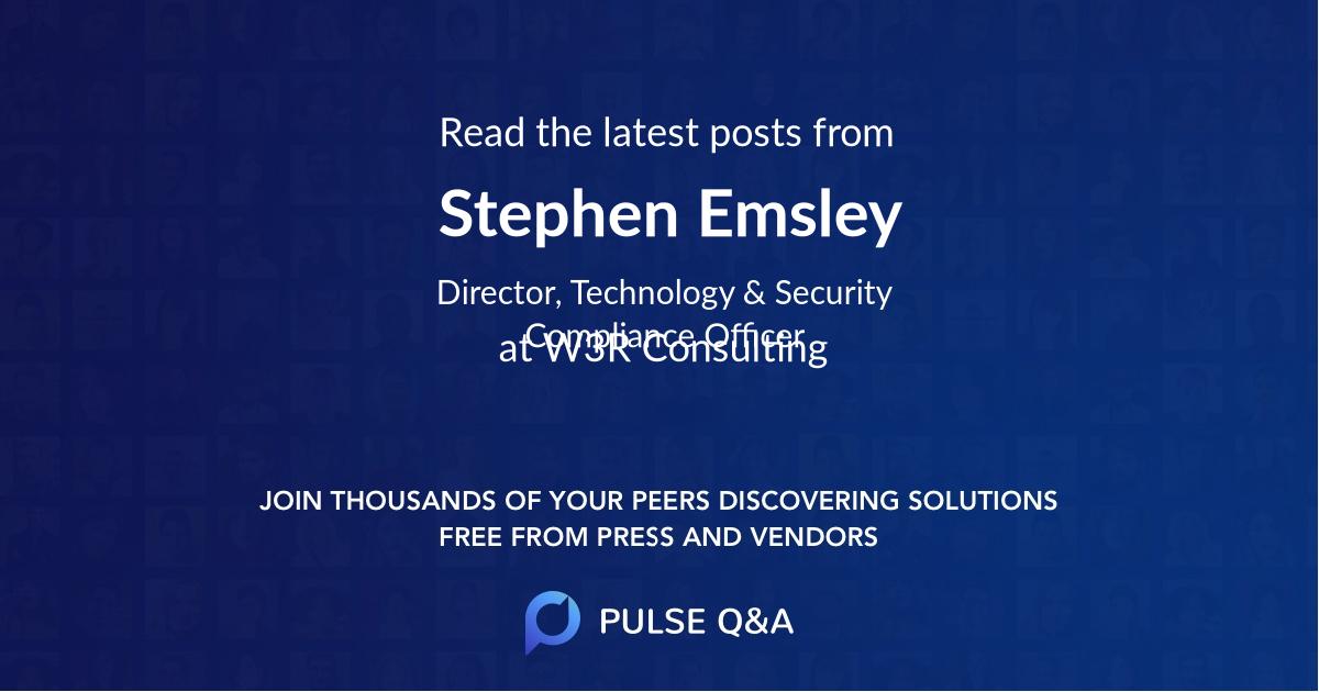 Stephen Emsley