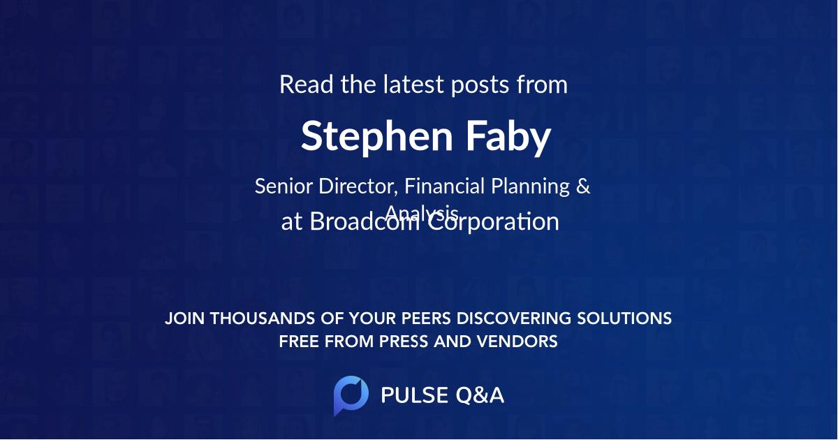 Stephen Faby