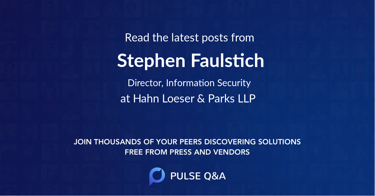 Stephen Faulstich