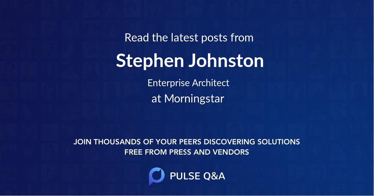 Stephen Johnston