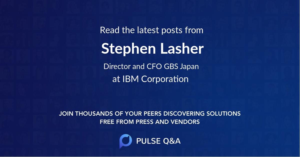 Stephen Lasher