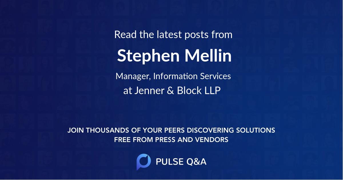 Stephen Mellin