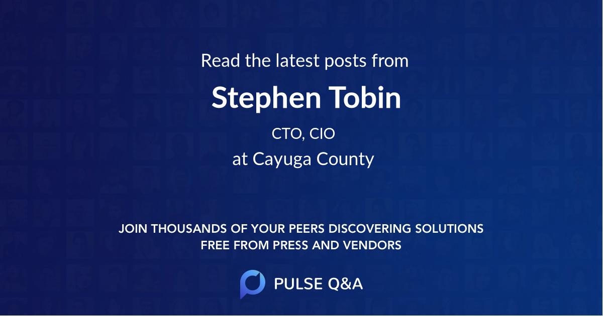 Stephen Tobin