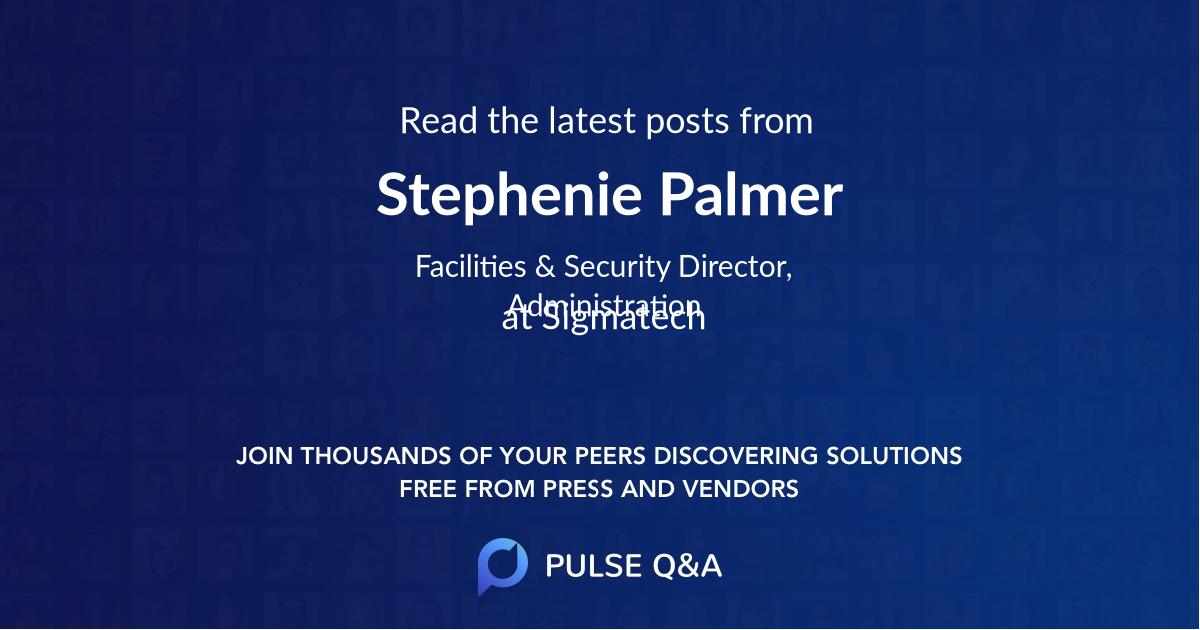 Stephenie Palmer
