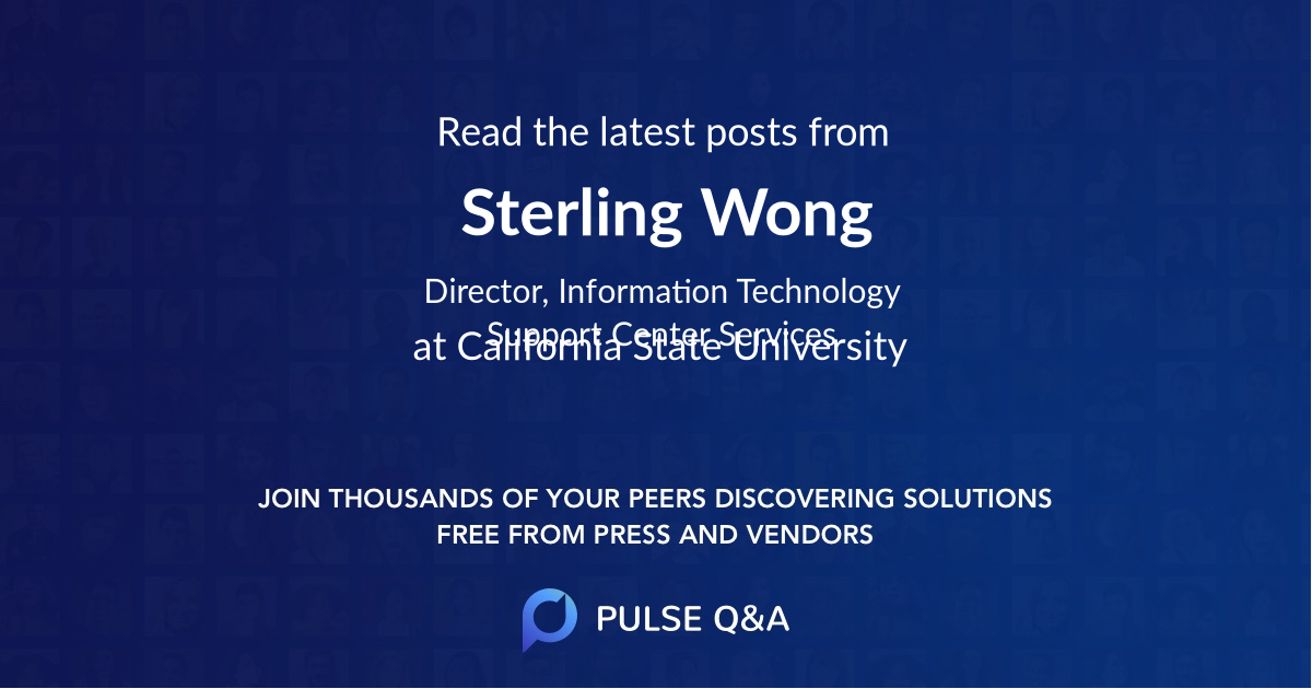 Sterling Wong