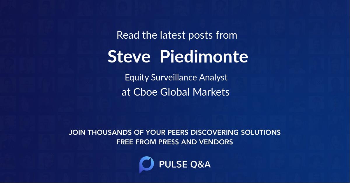 Steve  Piedimonte