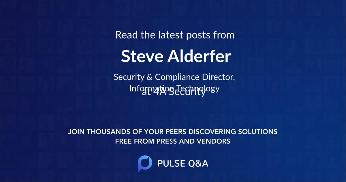 Steve Alderfer