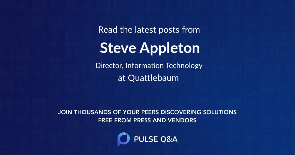 Steve Appleton