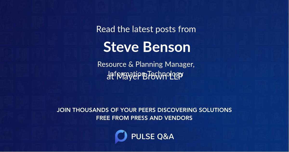 Steve Benson