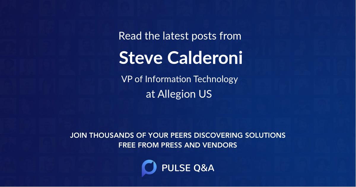 Steve Calderoni