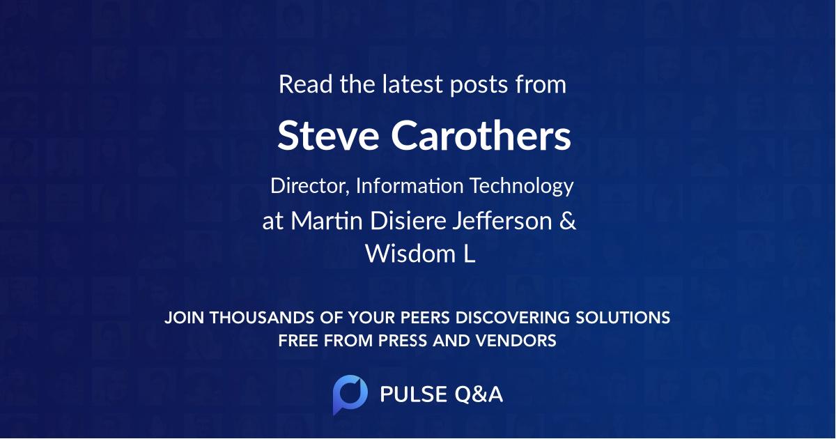 Steve Carothers
