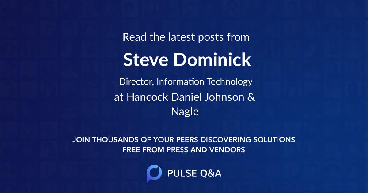 Steve Dominick
