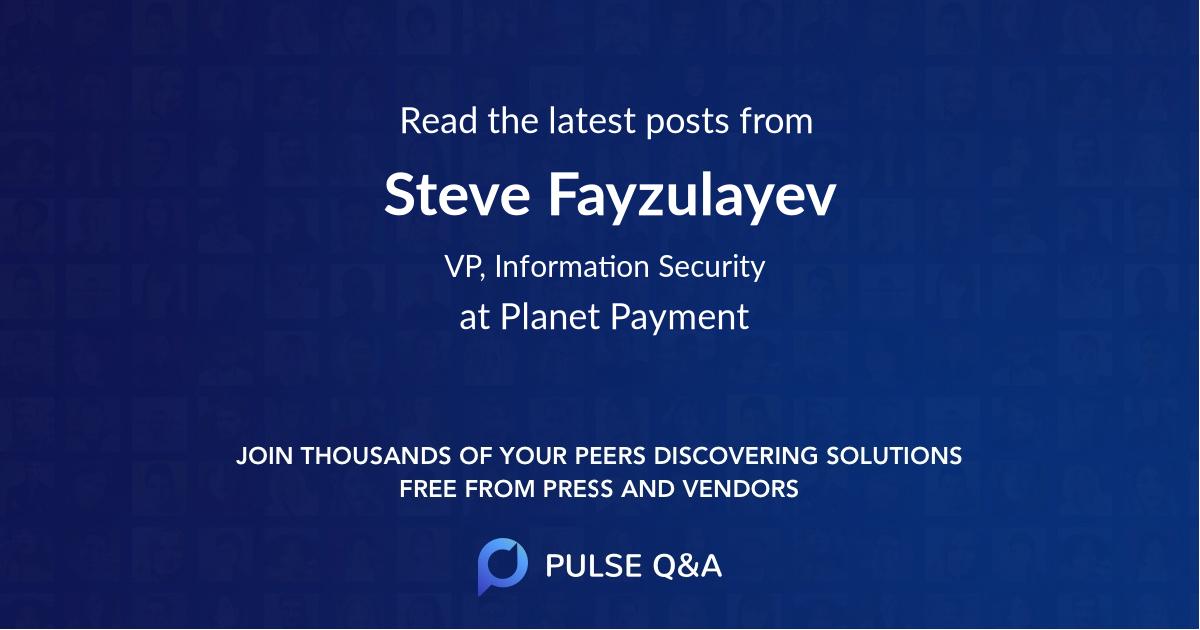 Steve Fayzulayev