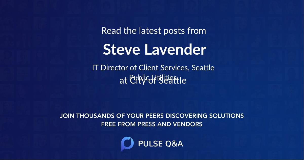 Steve Lavender