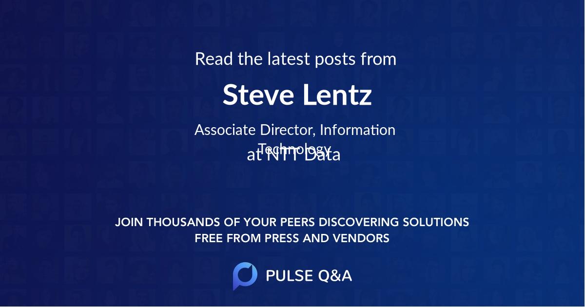 Steve Lentz