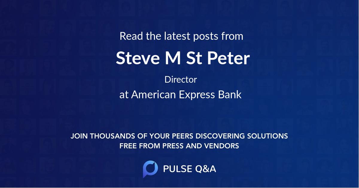 Steve M St Peter