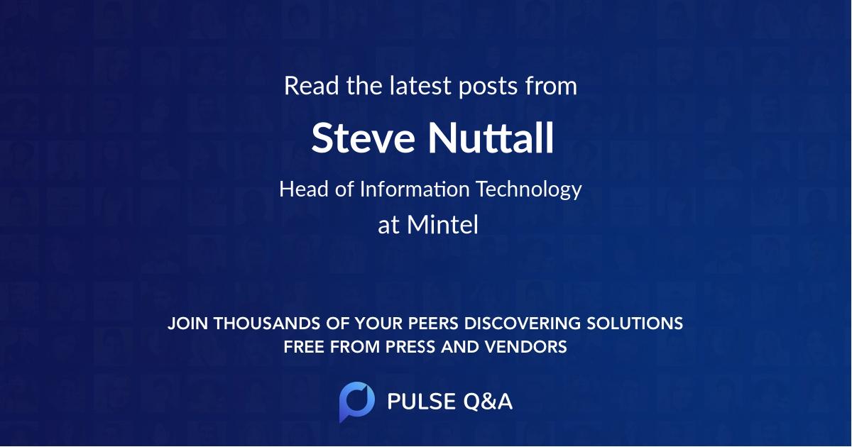 Steve Nuttall