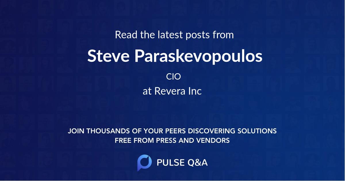 Steve Paraskevopoulos