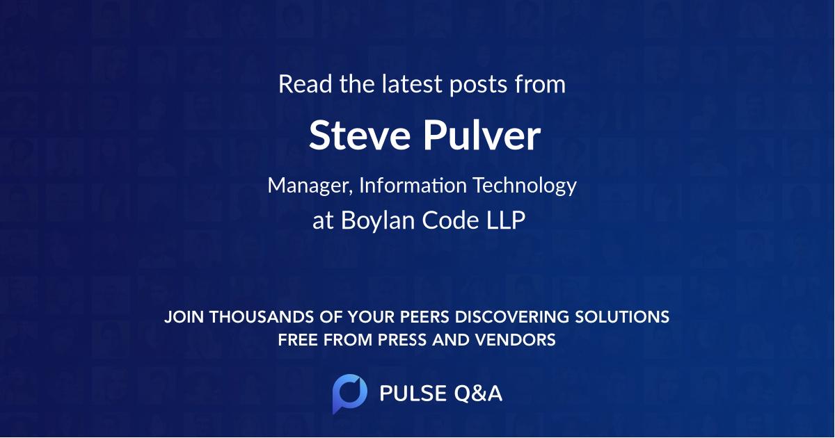 Steve Pulver