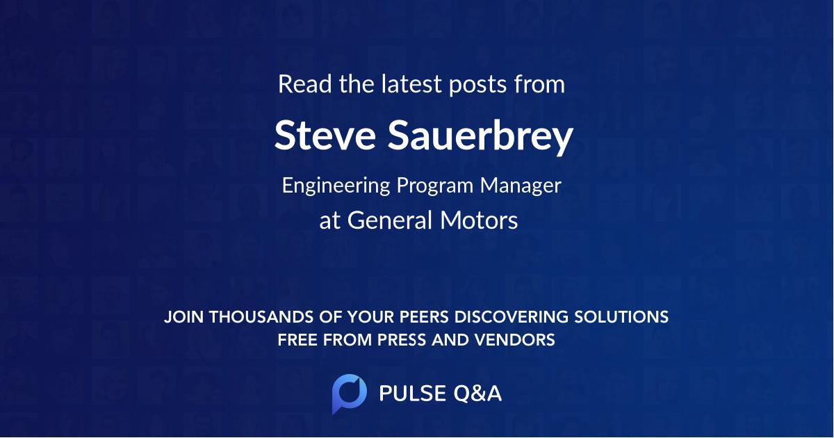 Steve Sauerbrey