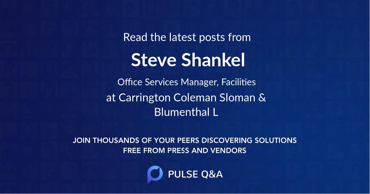 Steve Shankel