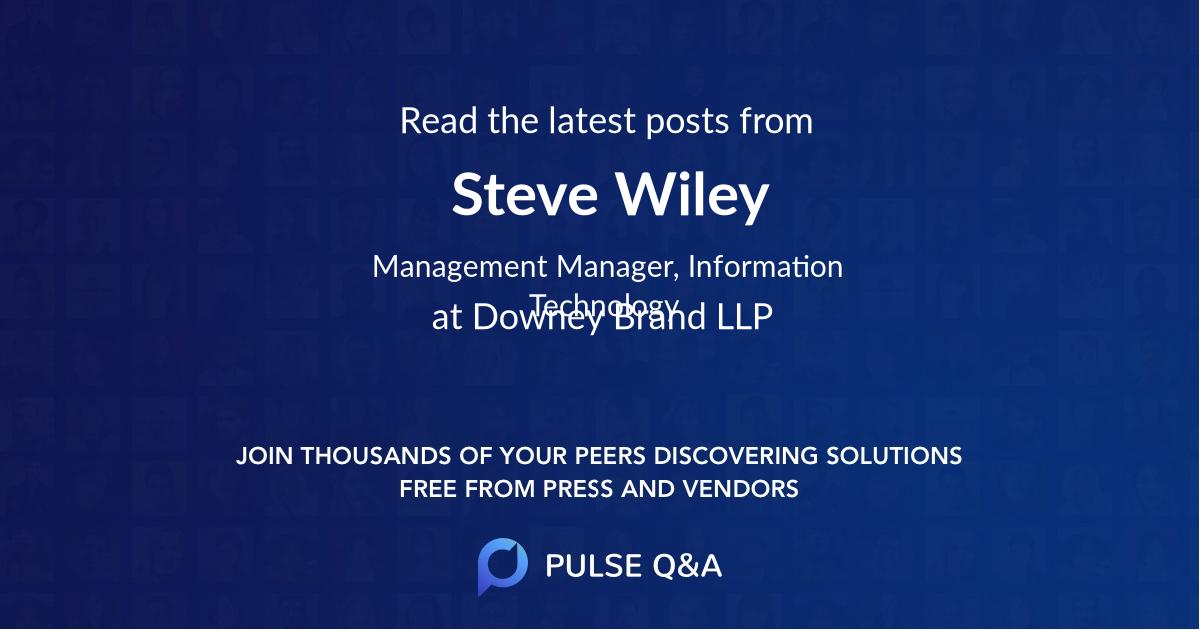 Steve Wiley