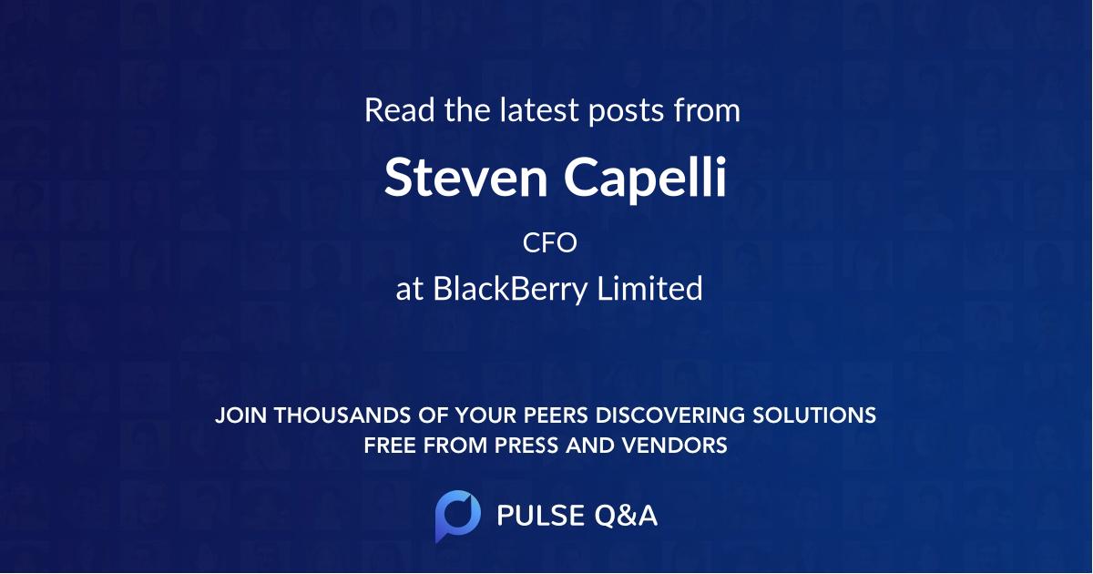 Steven Capelli