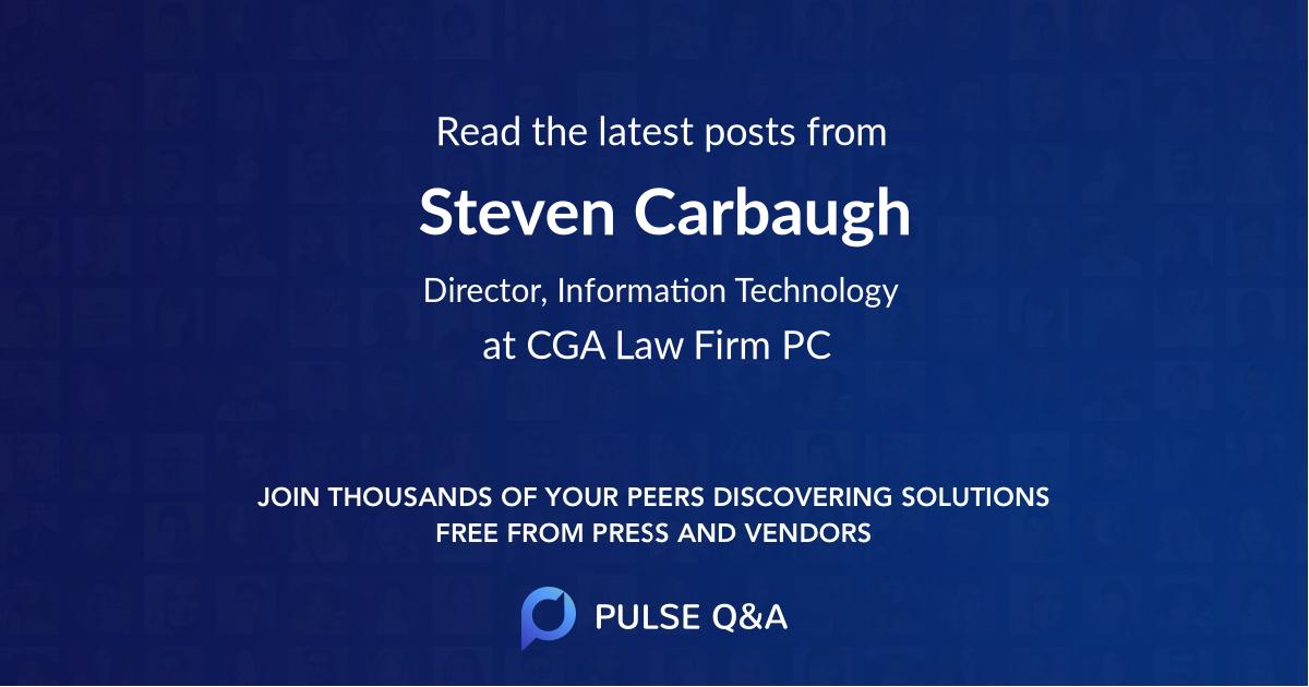 Steven Carbaugh