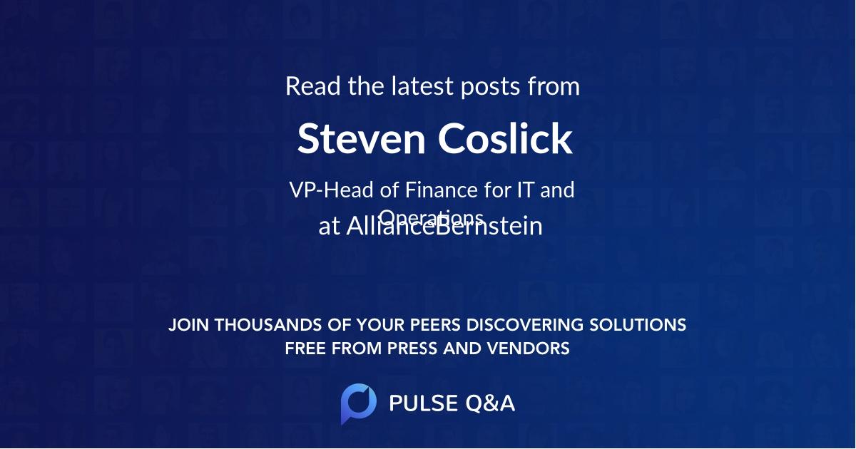 Steven Coslick