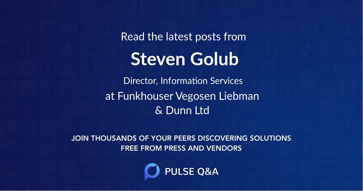 Steven Golub