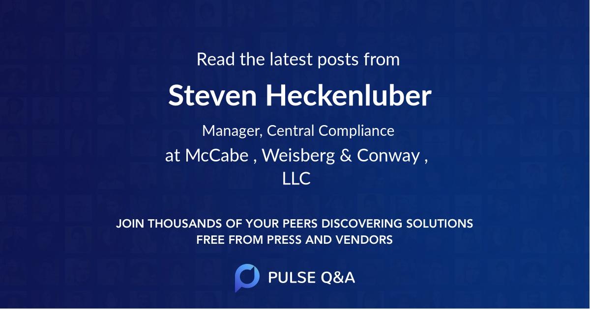 Steven Heckenluber