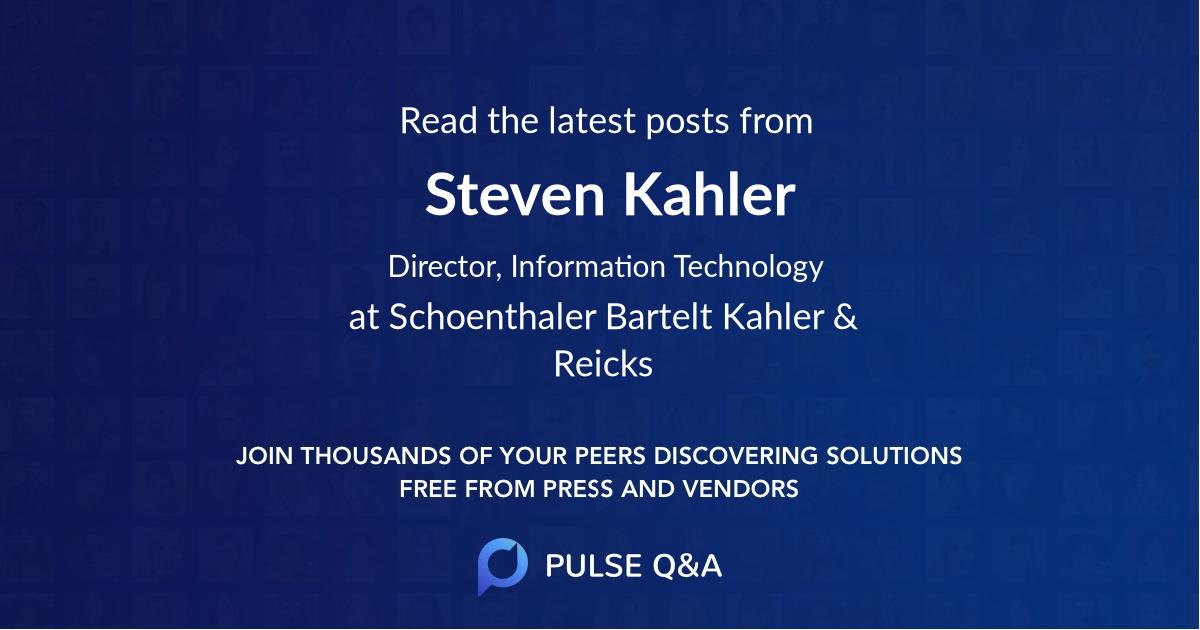 Steven Kahler