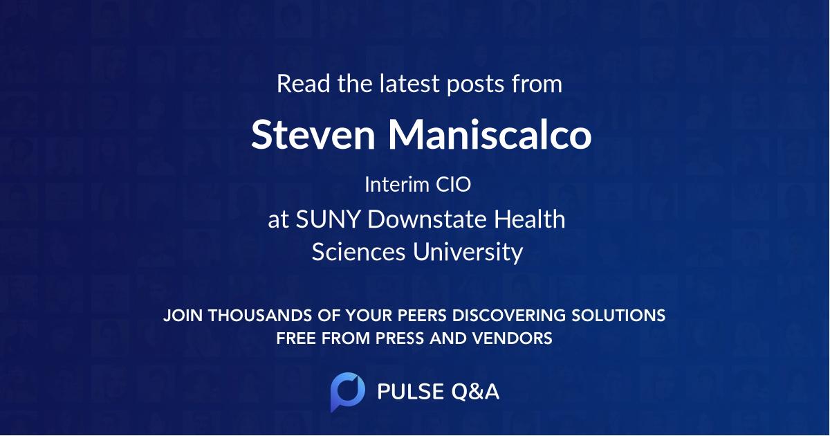 Steven Maniscalco