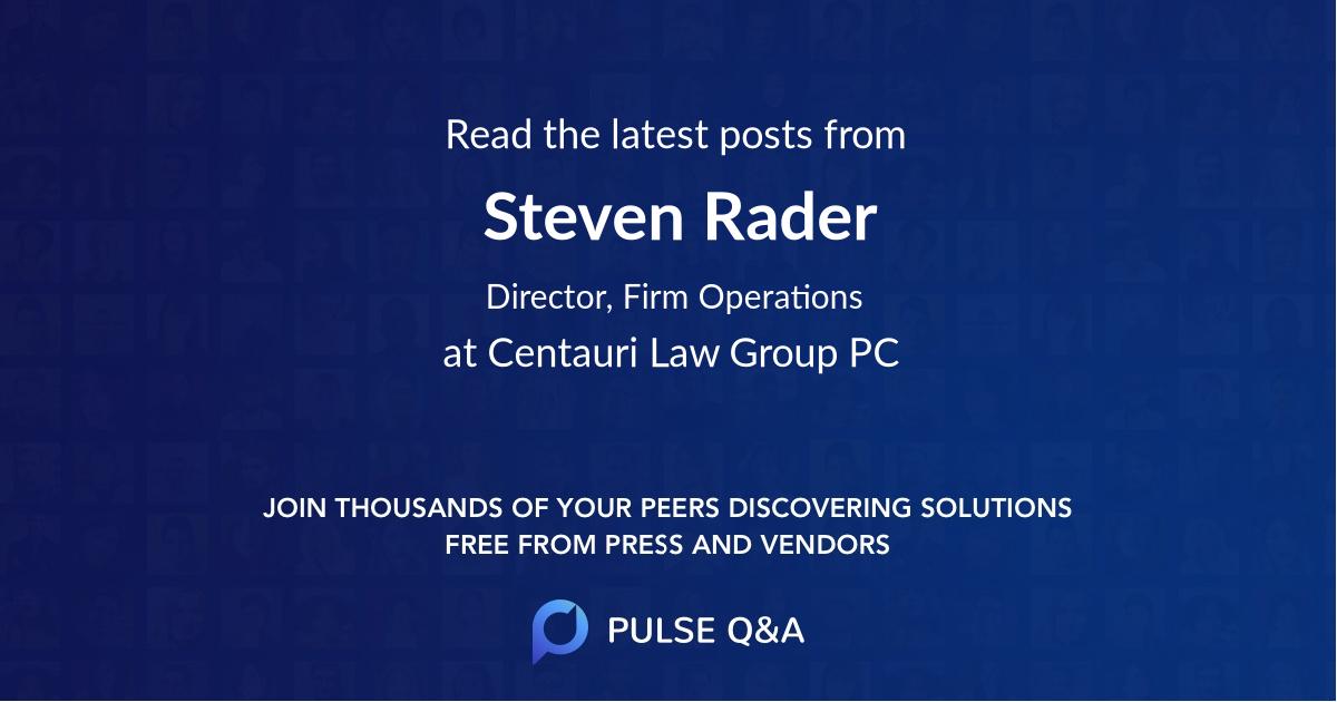 Steven Rader