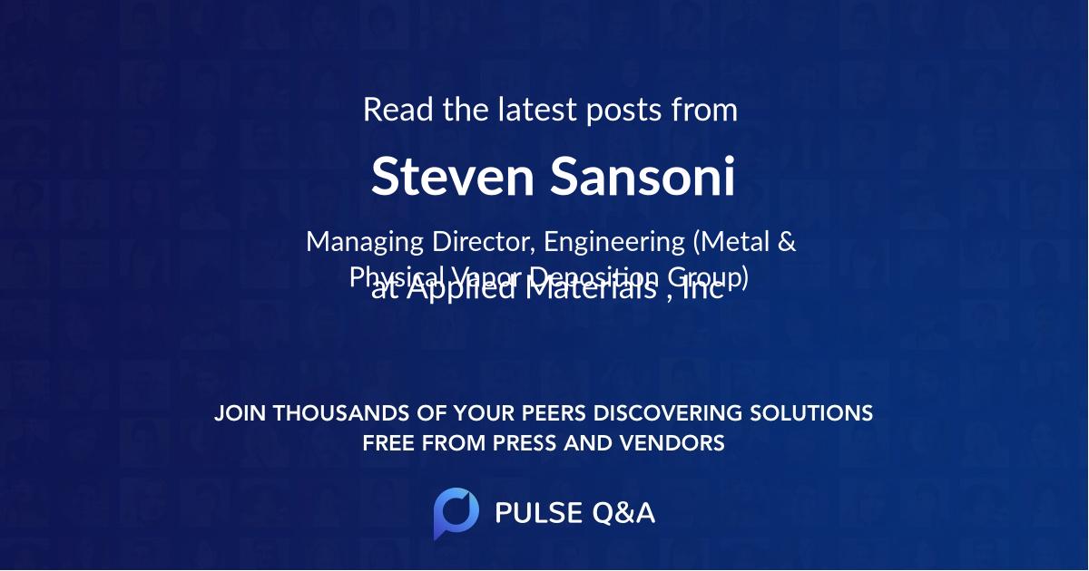 Steven Sansoni