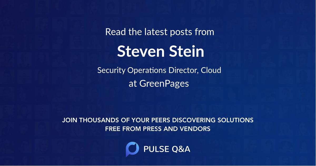 Steven Stein